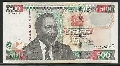 Kenya P-New 500 Shillings 2009 Unc