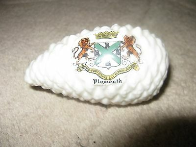 Arcadian Crested China Fir Cone  With Plymouth Crest 50mm Diameter