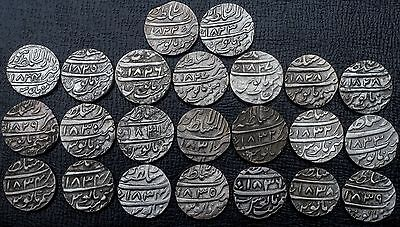 India Sikh Bhangi Misls Early Lahore Collection of 23 AR Rupees VS1822-39 KM#63