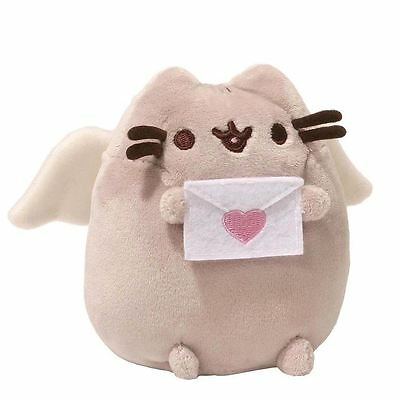 "Pusheen The Cat Cupid Plush Official Gund 4"" Valentines Plushie Soft Cuddly Toy"