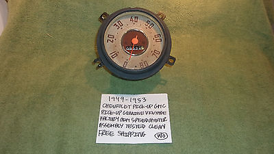 1949-1953 Chevrolet Gmc Pick Up Genuine Vintage Speedomter Assembly Free Shippin