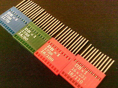 40 X DBX1/16X231/16X257/1738 INDUSTRIAL SEWING MACHINE NEEDLES ASTD ni/150