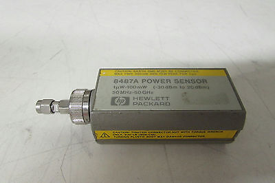 Agilent HP 8487A Power Sensor, 50 MHz to 50 GHz, -30 to +20 dBm, db-8, just cal