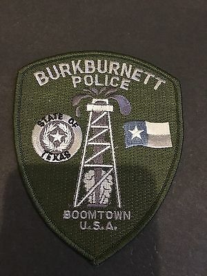 Burkburnett Texas Police Boomtown  Usa  Shoulder Patch