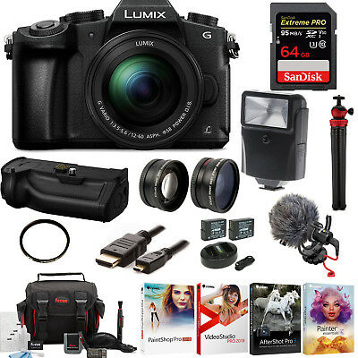 Panasonic Lumix G85 4K Kit,12-60mm Lens, DMW-BGG1 Battery Grip, Rode Video Micro