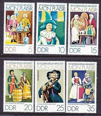 Germany DDR 1576-81 MNH 1974 Miniature China & Mirror Exhibits Full 6 Stamp Set
