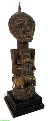 Songye Power Figure Nkishi on Stand Congo African Art