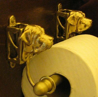 ENGLISH MASTIFF Bronze Toilet Paper Holder OR Paper Towel Holder!
