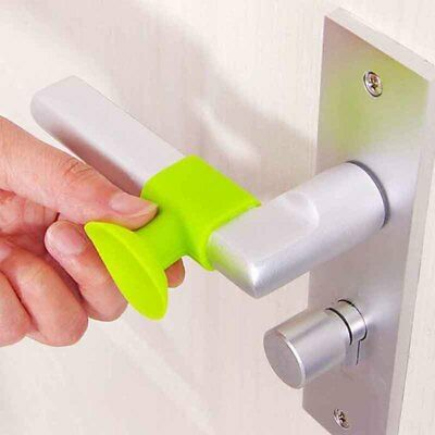 1 Pc Creative Four Color Available Door Handle Protective Pad Wall Protector