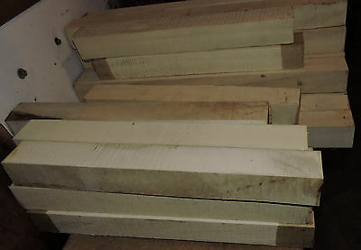 American Holly Hardwood 2x2x24 Lathe Turning Carving Reel Seats White Holly Wood