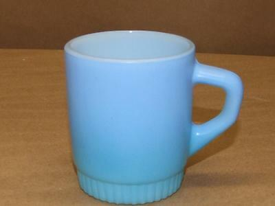 Anchor Hocking Fire King Blue Coffee Mug Cup Ribbed Bottom Stackable Stacking