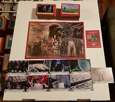 2016 Topps Star Wars Rogue One Mission Briefing 110 Card Base Set + Deathstar