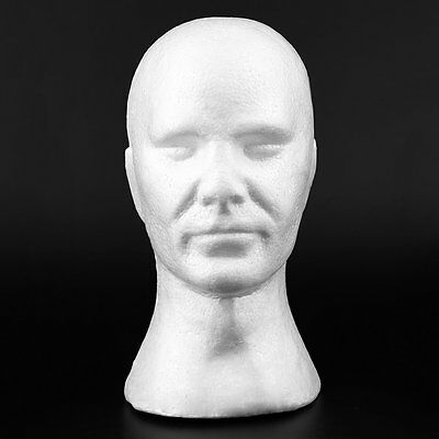 Men Smooth Mannequin Head Model Wig Hat Glasses Bubble Mannequin With Ear XRAU
