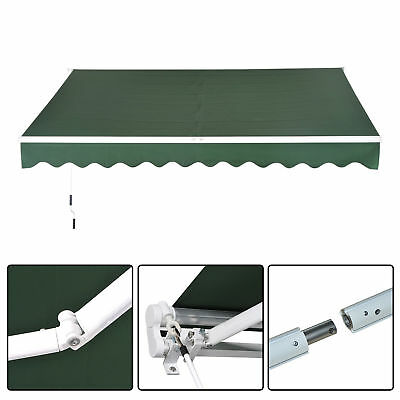 Outsunny Awning Door Canopy Shelter Front Back Patio Sun Rain Shade Cover Green