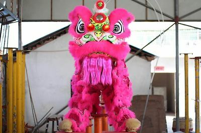 High Quality  Lion Dance Costume Natural Wool Southern Lion For Two Adult Gift
