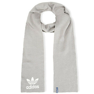 adidas Originals Kids Trefoil Knitted Warm Winter Scarf - Grey - One Size