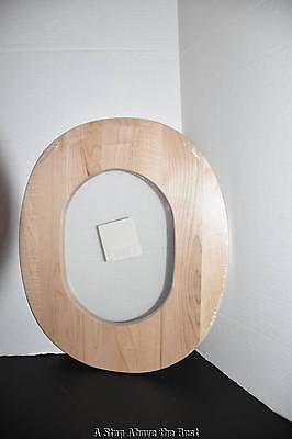 Longaberger Extra Large Oval Waste Natural Woodcraft Lid with Cut Out #595370 NE