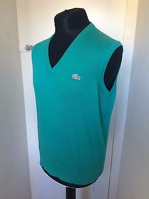 Vintage Chemise Lacoste Basi Green Sleeveless Jumper Size 5 Medium