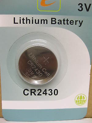 Cr2430 Lithium Battery Coin Cell Eunicell Button 3V New Dl2430 K2430L Ecr2430