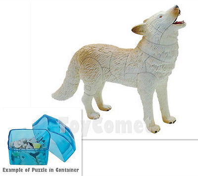 Arctic Wolf Polar Life Animal Part I 4D 3D Puzzle Realistic Model Kit Toy