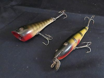 Pair of Vintage C.C.B. Co Fishing Lures Plunker & Round Nose
