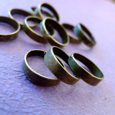Wholesale 100pcs ANTIQUE BRONZE RING BASE BLANK FINDINGS R4