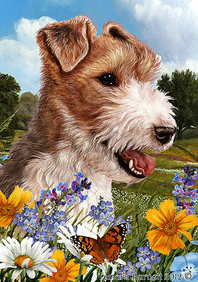Garden Indoor/Outdoor Summer Flag - Wire Fox Terrier 180671