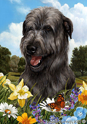 Garden Indoor/Outdoor Summer Flag - Black Irish Wolfhound 181641