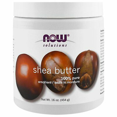Now Foods Solutions 100% Natural SHEA BUTTER 16 oz Skin Moisturizer - NEW SIZE