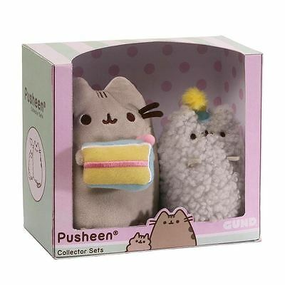 Pusheen the Cat and Stormy Birthday Collector Plush Cuddly Toy Set by Gund