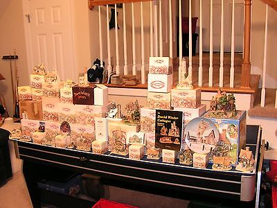 Large LOT 55 David Winters Cottage Collection - 31 IN BOX 55 TOTAL PIECES