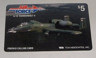 TCM Associates Air Force A-10 Thunderbolt II Airplane Prepaid $5 Phone Card