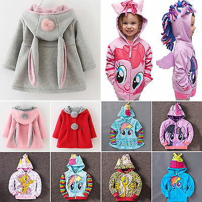 Baby Girls Cute Hoodie Jacket Coat Kids Boys Sweater Outfit Outerwear Sweatshirt