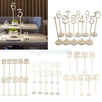 Vintage Wood Table Numbers 1 to 40 Wedding Birthday Party Table Centerpieces