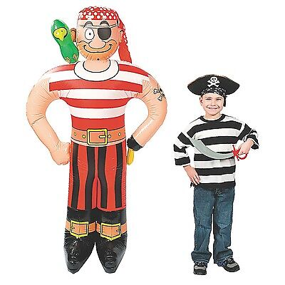 69 Inch Jumbo Inflatable Blow Up Pirate Photo Op Kids Party Decoration