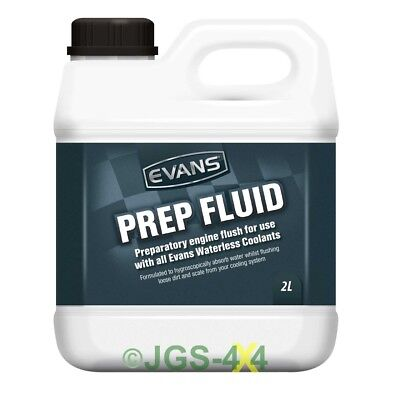 Evans Waterless Coolant Prep Fluid Engine Flush For All Cars (2 Litres)