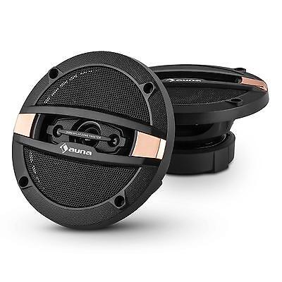 Altoparlanti Coassiali Auna 4 Vie 120 W Woofer Audio Macchina Auto Car Bronzo
