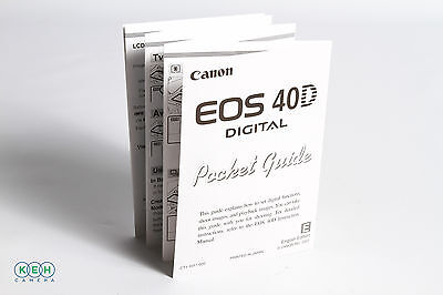 Canon 40D Pocket Guide Instructions
