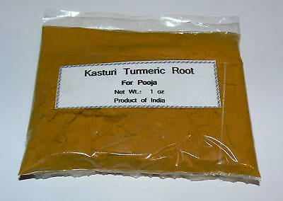 Kasturi Root Turmeric Powder for Pooja  1 oz