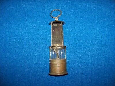 "Rare ""gebruder Groh Wien"" Brass Coal Mining Safety Lamp Light Salesman Sample?"