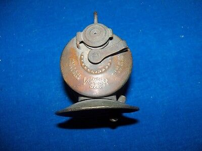 "Scarce Antique Brass ""victor"" Coal Mine Mining Carbide Lamp Light"