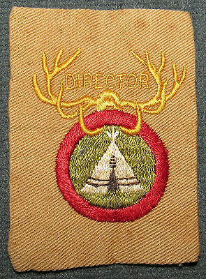 Boy Scouts of America National Camping School NCS Director Position Patch Tan
