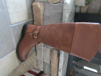 4d8d04cc6 NEW SAM EDELMAN Moore Tall Leather Riding Boots Womens 8.5 Cognac ...