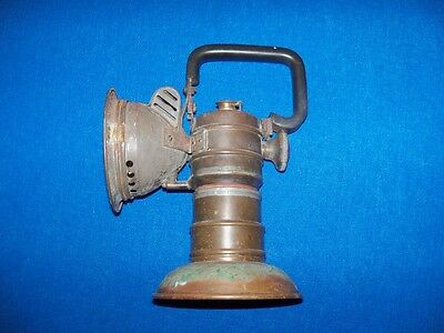 Rare Wolf Safety Lamp Antique Coal Mine Mining Miners Brass Carbide Lamp Light