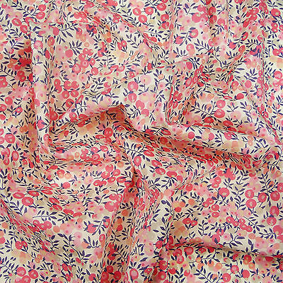Liberty ~ Wiltshire Berry D Pink Tana Lawn Fabric / quilting dressmaking baby