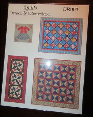 Miniature Dollhouse 1:12 SCALE PRINTED FABRIC QUILT SHEET/WALL HANGING KIT DR901