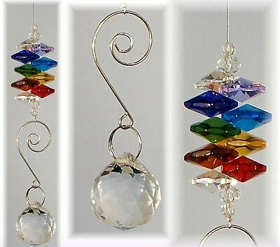 10 RAINBOW CRYSTAL SUNCATCHER GIFTS 20mm sphere fengshui-wholesale bulk lot