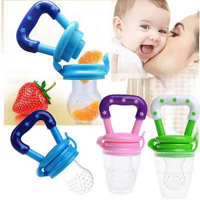 Infant Baby Fruit Cereal Food Feeder Safe Pacifier Bottle Nursing Feeding Tool