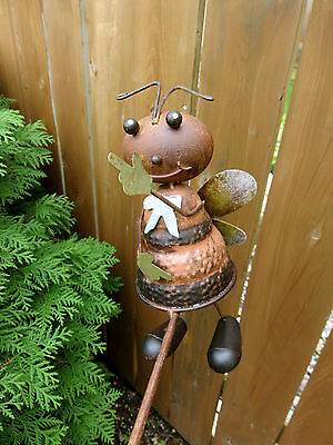 BUMBLE BEE GARDEN WOBBLER BALANCE TOY 39 IN.x 23 IN. FLOWER BED STAKE YARD BEES