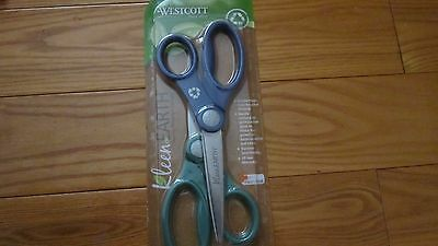 "2 Pair KleenEarth ANTIMICROBIAL Plastic Handle Scissors, 8"" Length,Pointed,Black"